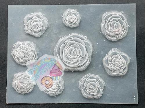 Imagen 1 de 2 de *mini Molde Rosas Rositas Mama Bella Fondant Chocolate Jabon