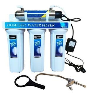 Filtro De Agua 4 Etapas Lampara Ultravioleta Uv Germicida