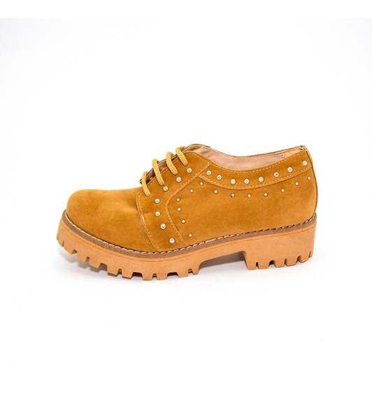 Zapatos Mujer Gamuza Apliques Class Express Mod. 1000