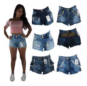 Kit 10 Short Jeans Feminino Com Lycra 36 Ao 44 Atacado