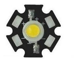 Power Led 5w - 3v Branco Frio 6500k 10 Pçs Com Dissipador