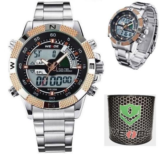 Relógio Masculino Casual Weide Original Wh1104 Com Caixa Box