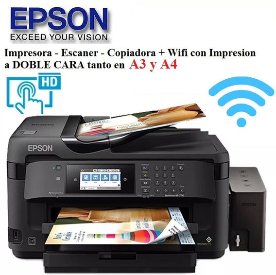 Impresora Epson A3 Wf7710+duplex Mejor Q L380 L3110 L4150