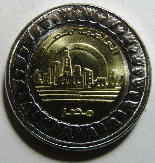 Egipto Moneda Bimetalica 1 Pound 2019 Ciudad Nueva Capital