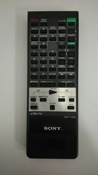 Controle Remoto Rmt-v116b Sony Video Cassete Orig. Semi-novo
