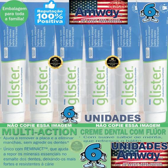 Glister Creme Dental 200g Pasta De Dente 6 Unidade Amway Eua