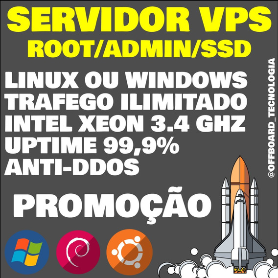Servidor Vps Xeon Kvm 3gb Ram 30gb Ssd Windows/linux/ssh