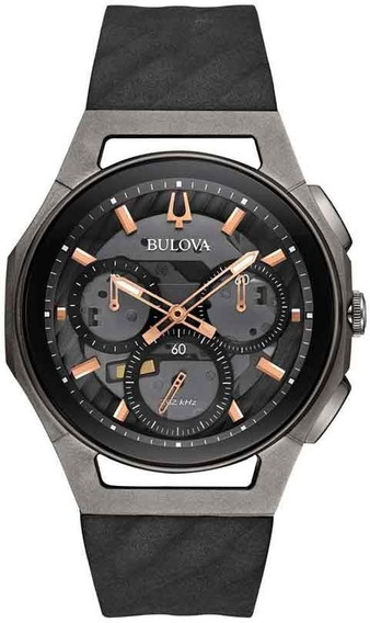 Relógio Bulova Cronógrafo Titânio 98a162 Curv Precisionist