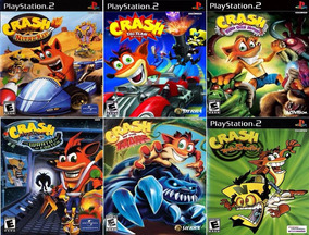 Crash Bandicoot Coleção (6 Jogos) Ps2 Desbloqueado Patch