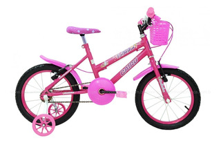 Bicicleta Bike Infantil Feminina - Aro 16 Racer Kids Rosa