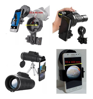 Adaptador De Celular 16mm Telescopio, Binoculo, Microscopio