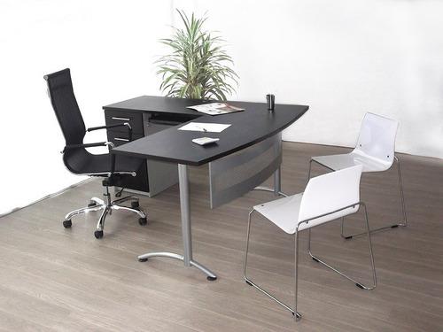 Estación De Trabajo Tipo  L  Escritorio - Mueble De Oficina.