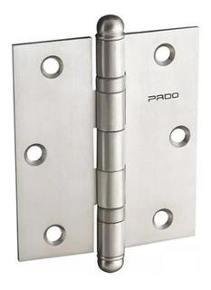 Dobradiça Rolamento Aço Escovado Porta Sm 3025 Pado C/ 3 Pçs