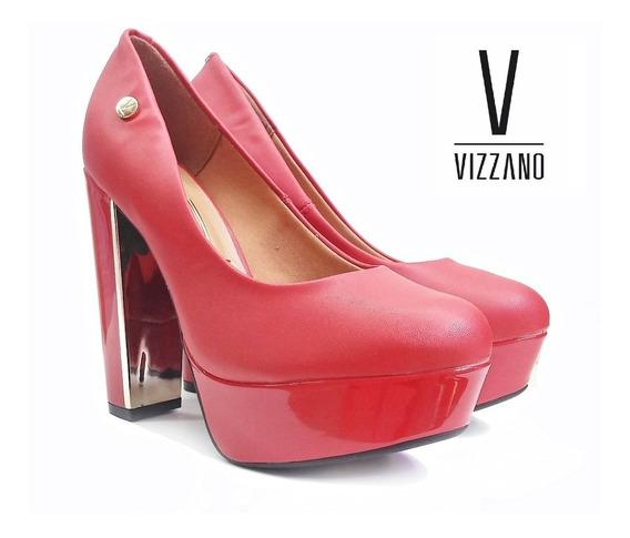 Zapatos Taco Palo De Vizzano - 1217.100 Rojo Liso