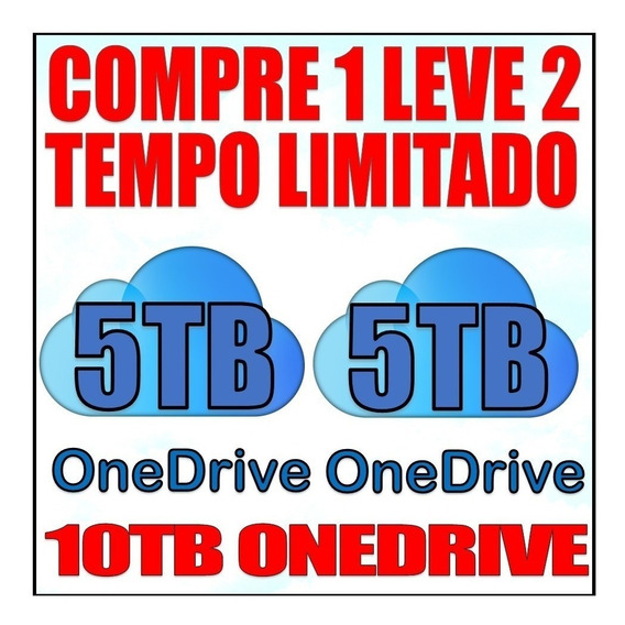 2 Contas Vitalícia One Drive 5 Tb + Brinde De Mais 1 Conta