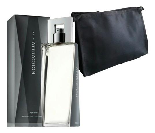 Avon Perfume Attraction Masculino Com Brindenecessaire Promo
