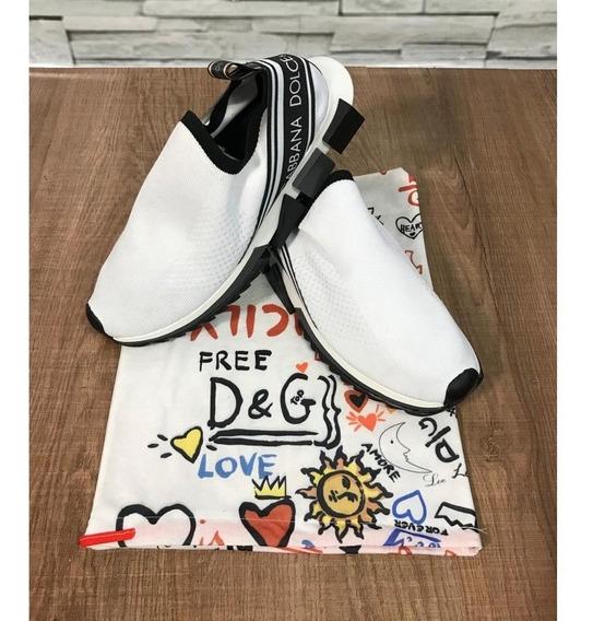 Sapatênis Dolce Gabbana Tênis Branco Liso Lançamento