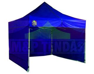 Tenda 3x3 Sanfonada Com 3 Laterais Fechadas