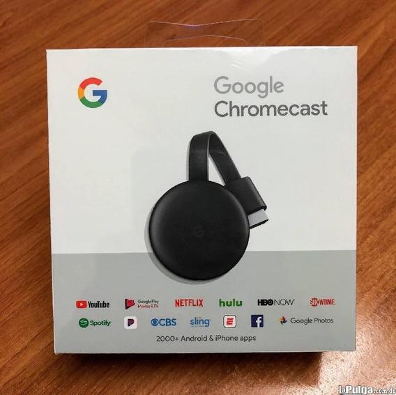 Google Chromecast 3 (oferta 50v) Streaming 1080p Sellados