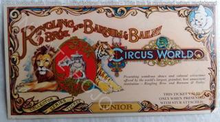 Antigua Entrada Circo Ringling Bros Usa Unica Excelente 1980