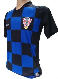 Camisa Da Croacia Preta