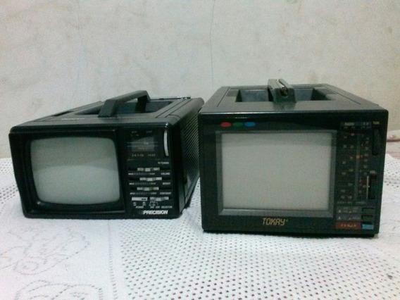 Mini Tv Portátil Antigas Tokay(funcionando) E Precision(ñ Li
