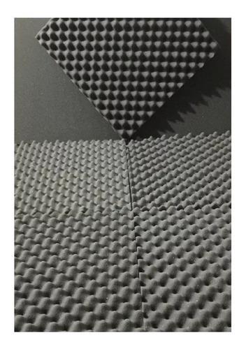 Imagem 1 de 4 de Espuma Acústica Kit C/ 10 Placas - 50cm X 50cm X 2cm - C.o