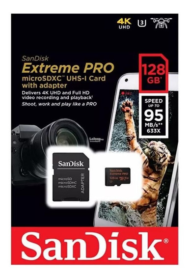 Cartão Micro Sd 64gb Extreme Pro Speed 95mb/s