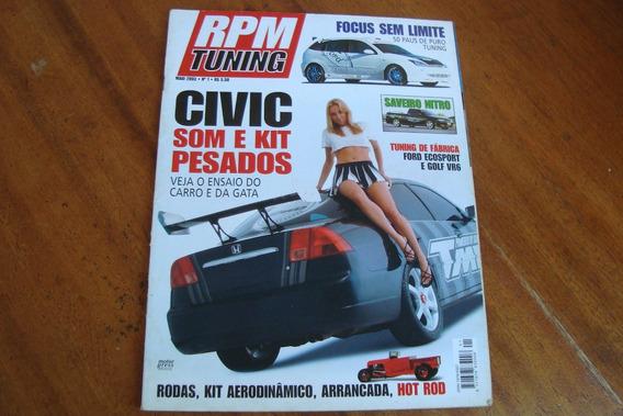 Revista Rpm Tuning 1 / Civic Som E Kit Pesados / Savero Nitr