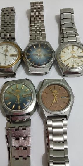 Lote De 5 Relógios Orient Automático Para Restaurar