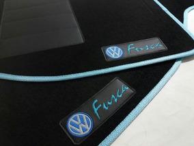 Tapete Automotivo Personalizado Fusca 5 Peças Carpete