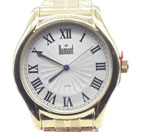 Relógio Unissex Dumont Analógico Du2035lwg/4d Fundo Pérola