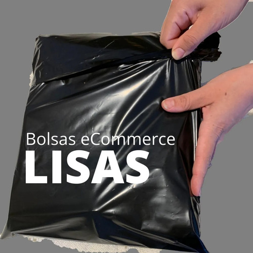 500 Bolsas Ecommerce Lisa Negra Nº3 42x54 C/adh Inviolable