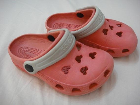 Crocs Disney Original - 25/26 - Rosa Usado