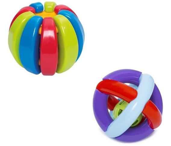 Kit 2 Brinquedos Didáticos P/ Bebes + 7 E 9 Meses Chocalho