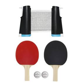 cd34f61f5 Set 2 Raquetas 2 Pelotas Y Red De Ping Pong Adaptable Orig.