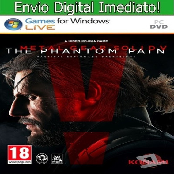 Metal Gear Solid V Pc Hd Envio Imediato.