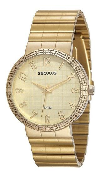 Relógio Seculus Feminino Analógico 60666lpsvds1 De Vitrine