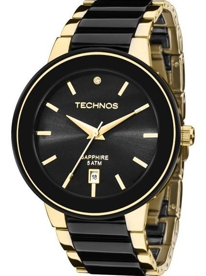 Relógio Technos Feminino Elegance Ceramic Sappire 2115krs/4p