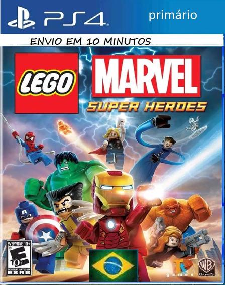 Lego Marvel Super Heroes Jogo Ps4 Digital Garantia Eterna