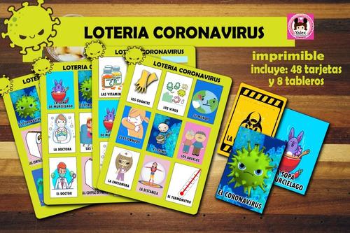 Loteria Cuarentena Coronaviru Birthday Mexicana Imprimible