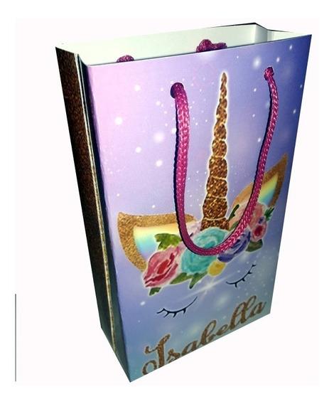 Unicornio Bolsita Imprimible Personalizada Candy Bar