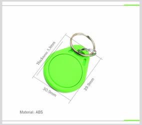 10 Chaveiros Aprox. Tag Rfid 125khz Acesso Eletronico