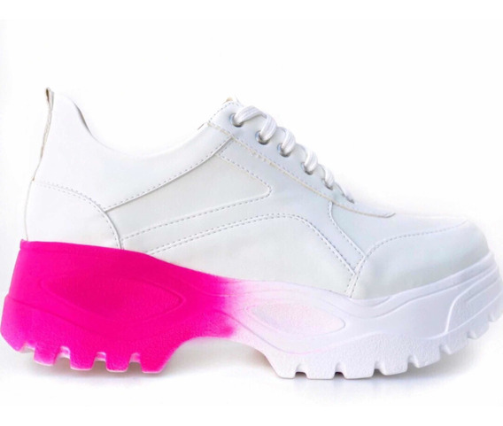Tênis Super Chunky Sneaker Sola Alta Flatform Original