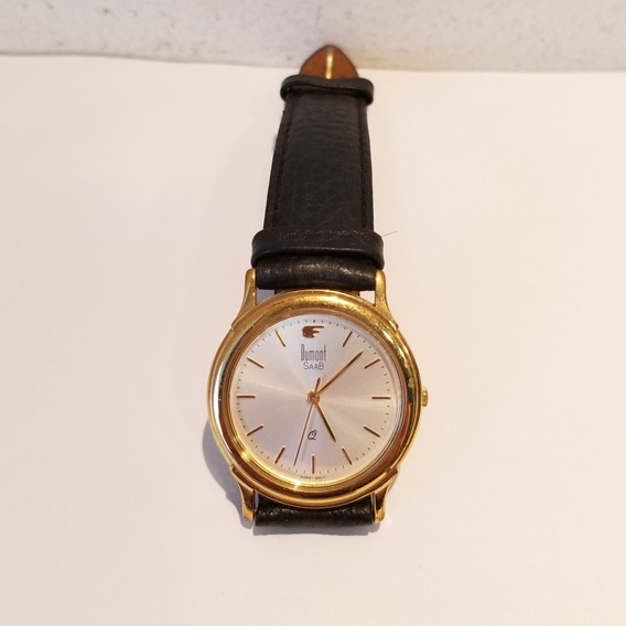 Relógio Pulso Dumont Saab 685 Am Dg 20127 Pulseira Couro