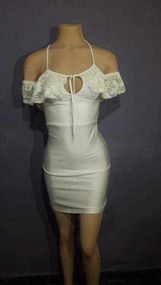 Vestido Blanco Lycra Año Nuevo 2020