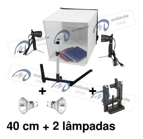 Tenda De Luz 40cm 220v, Mini Estúdio Fotográfico Sup Celular