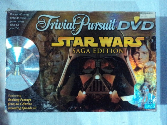 Star Wars Trivia Pursuit Dvd Saga Edition Juego De Mesa 2005