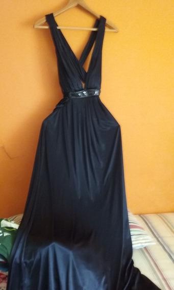 Vestido Largo Color Azul Talla 9