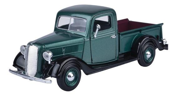 Auto Ford Clasico Pickup 1937 Escala 1/24 Colección Motormax